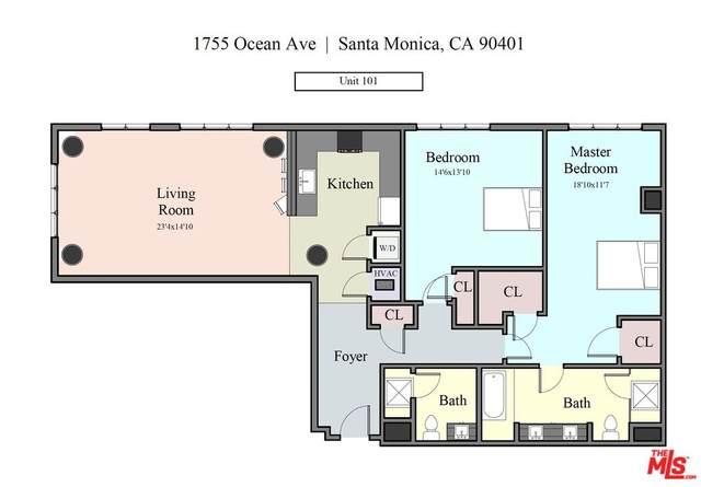 1755 Ocean Ave #101, Santa Monica, CA 90401 (MLS #21-784626) :: The Sandi Phillips Team