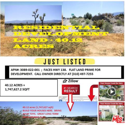 0 Vac/Pearblossom Hwy/253, Pinon Hills, CA 93591 (#19-435724) :: Randy Plaice and Associates