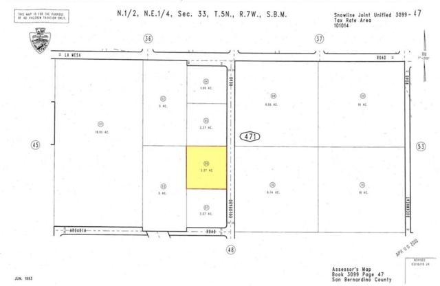 0 Colorado Rd. And Arcadia Road, Pinon Hills, CA 92372 (#SR19145839) :: Golden Palm Properties
