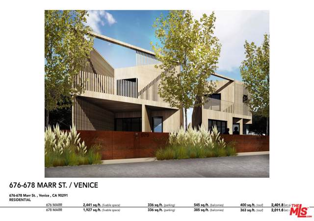 678 Marr St, Venice, CA 90291 (MLS #19-510360) :: Mark Wise | Bennion Deville Homes