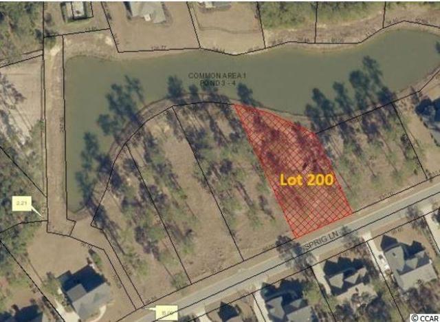 Lot 200 Sprig Ln., Murrells Inlet, SC 29576 (MLS #1911056) :: The Trembley Group   Keller Williams