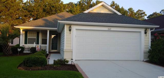 849 Laquinta Loop, Murrells Inlet, SC 29576 (MLS #1916765) :: Berkshire Hathaway HomeServices Myrtle Beach Real Estate
