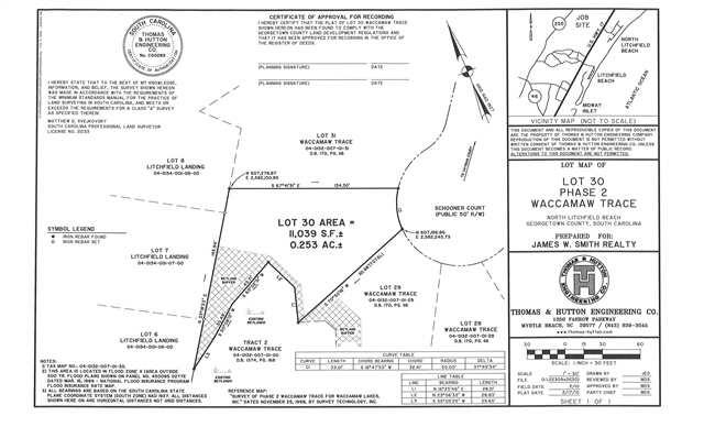 Lot 30 Schooner Ct., Pawleys Island, SC 29585 (MLS #1005817) :: Coldwell Banker Sea Coast Advantage
