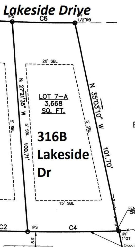 316A Lakeside Dr., Surfside Beach, SC 29575 (MLS #2101017) :: The Lachicotte Company
