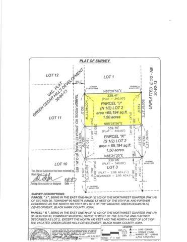 Lot 2 Parcel J Timber Ridge Road, Cedar Falls, IA 50613 (MLS #20181940) :: Amy Wienands Real Estate