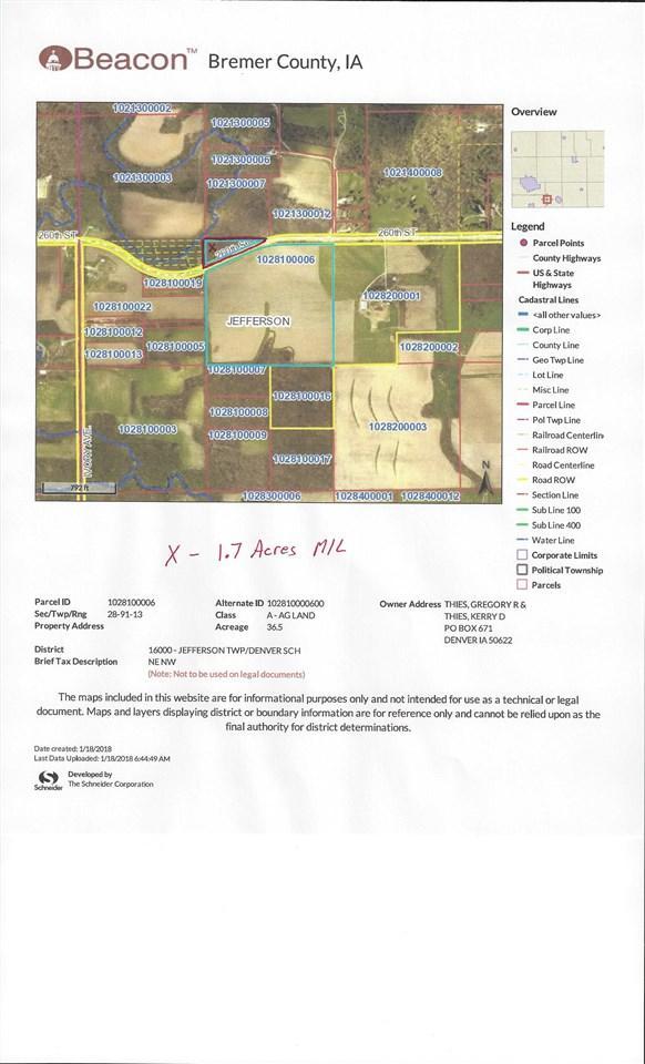 XX 260th Street, Denver, IA 50622 (MLS #20180263) :: Amy Wienands Real Estate