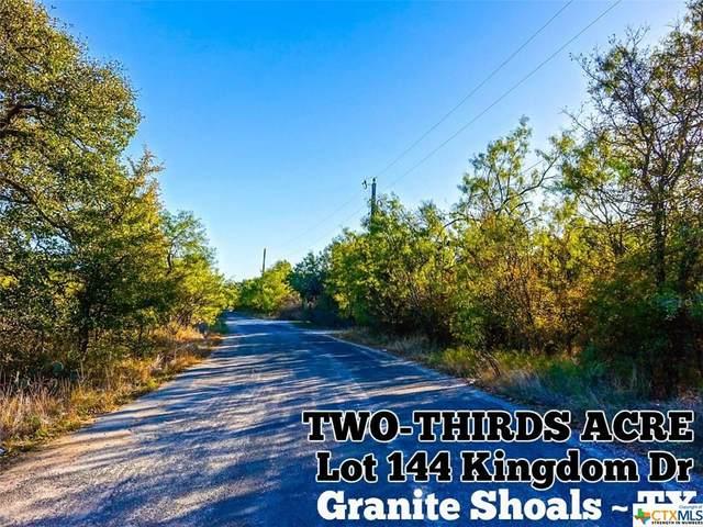 Lot 1144 Kingdom Drive, Granite Shoals, TX 78654 (MLS #411884) :: RE/MAX Family