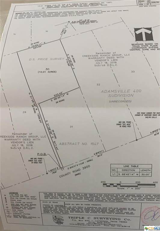 000 Tract 30 County Road 3390, Lampasas, TX 76550 (MLS #449950) :: The Zaplac Group