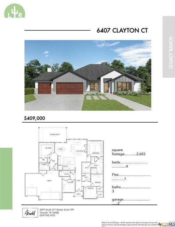 6407 Clayton Court, Temple, TX 76502 (MLS #385660) :: The Zaplac Group