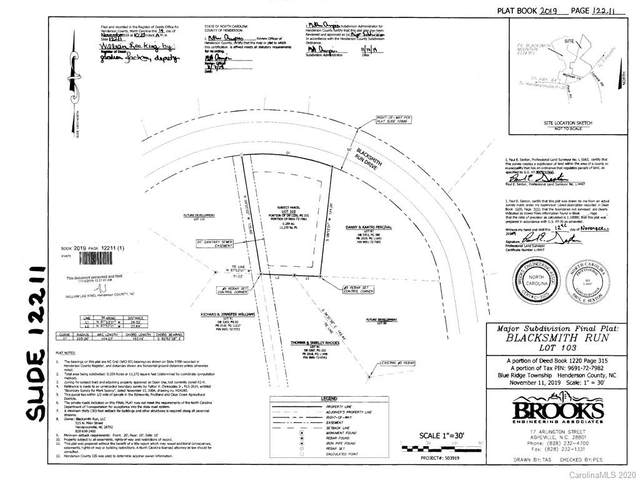 LOT 103 Blacksmith Run Drive, Hendersonville, NC 28792 (#3687742) :: Mossy Oak Properties Land and Luxury