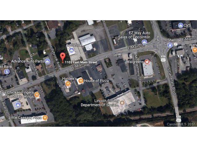 1103 & 1107 E Main Street, Lincolnton, NC 28092 (#3322724) :: Rinehart Realty