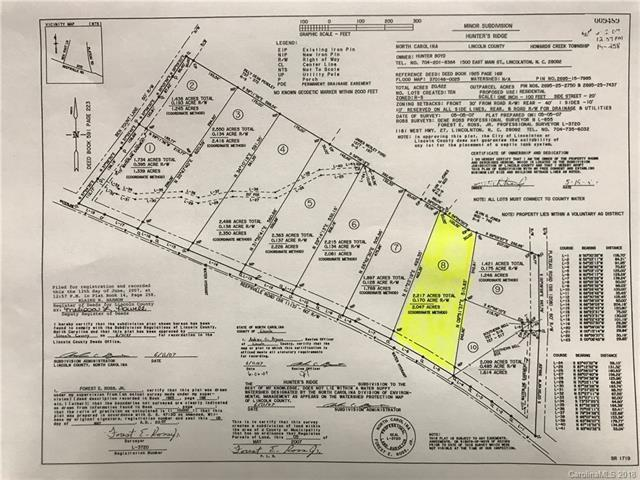 Lot 8 Reepsville Road, Vale, NC 28168 (#3384118) :: RE/MAX Four Seasons Realty
