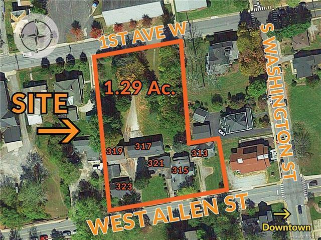 313-315 Allen Street, Hendersonville, NC 28739 (#3444698) :: Homes Charlotte