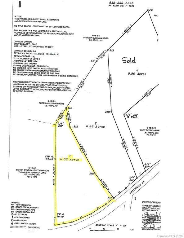 LOT 1 Greenville Street, Saluda, NC 28773 (#3595785) :: Miller Realty Group