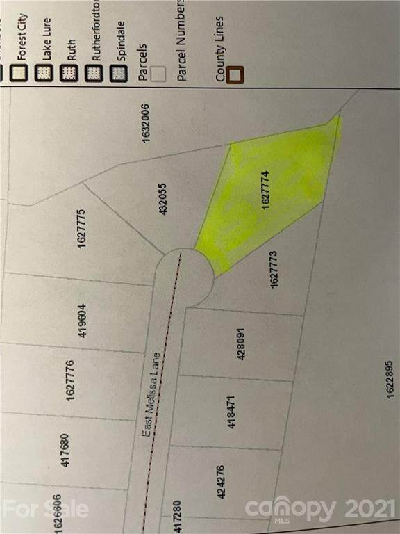 Lot 18 E Melissa Lane, Forest City, NC 28043 (#3750439) :: Lake Wylie Realty