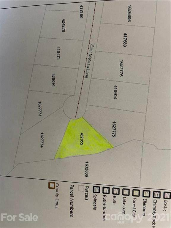Lot 19 E Melissa Lane, Forest City, NC 28043 (#3750460) :: Lake Wylie Realty