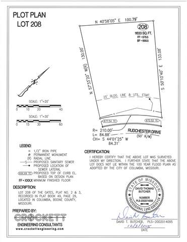 LOT 208 Rudchester Dr, Columbia, MO 65203 (MLS #374510) :: Columbia Real Estate