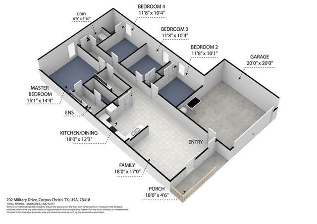 702 Military Drive, Corpus Christi, TX 78418 (MLS #376850) :: South Coast Real Estate, LLC