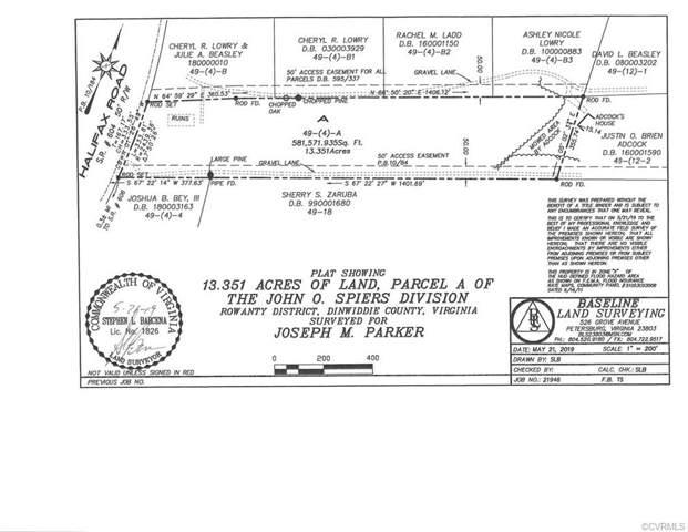 Parcel A Halifax Road, North Dinwiddie, VA 23805 (MLS #1923597) :: The Redux Group