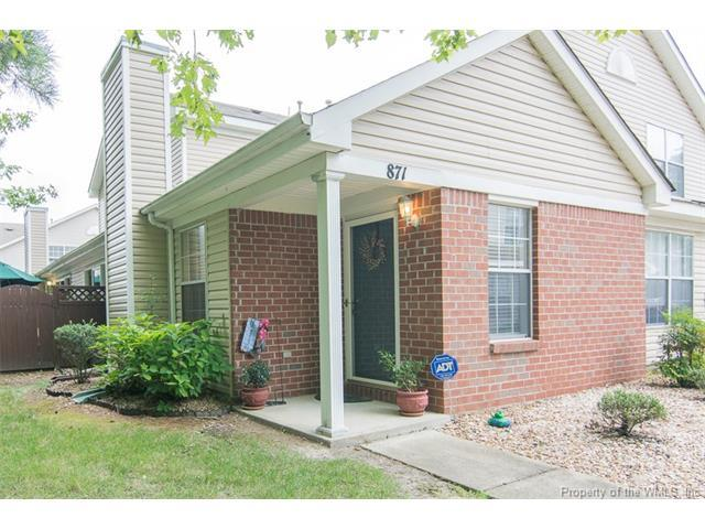871 Miller Creek Lane #871, Newport News, VA 23602 (MLS #1731639) :: The Ryan Sanford Team