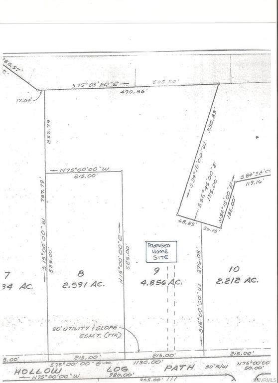0 Hollow Log Path, Powhatan, VA 23139 (MLS #2025874) :: Blake and Ali Poore Team