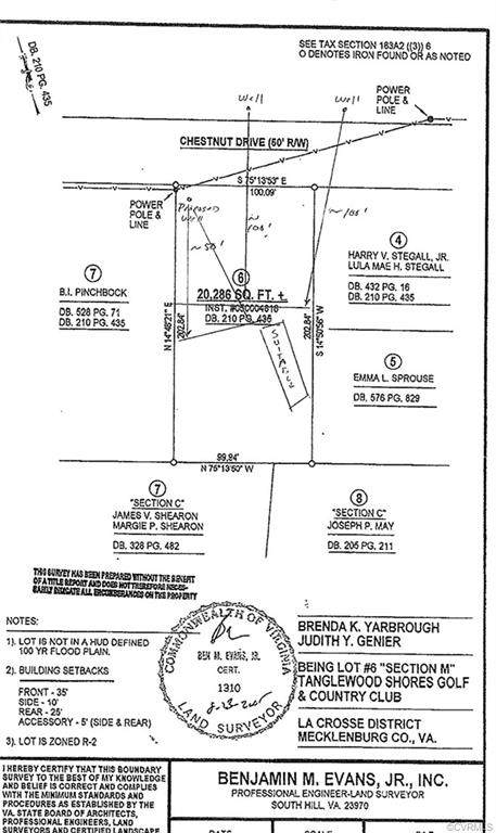 0 Chestnut Drive, Bracey, VA 23919 (MLS #2037819) :: Treehouse Realty VA