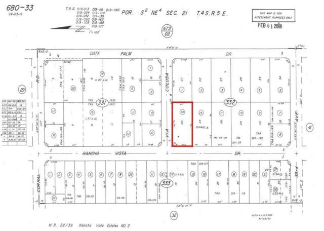 0 Via Colusa, Cathedral City, CA 92234 (MLS #217019562) :: Deirdre Coit and Associates