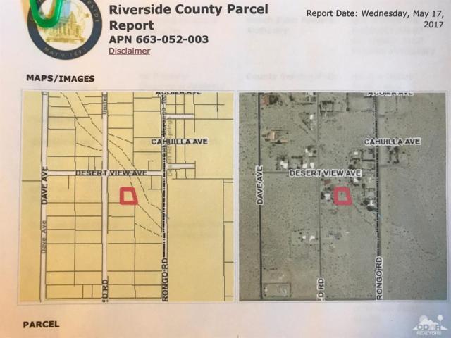 0 Lot 61-United Road, Desert Hot Springs, CA 92240 (MLS #217024984) :: Hacienda Group Inc