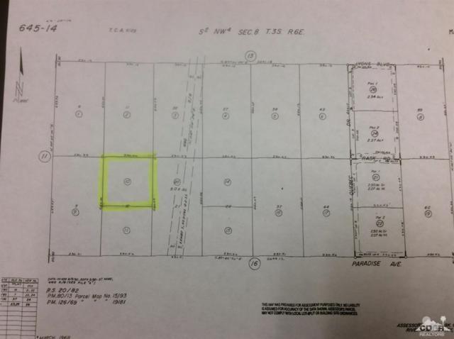 0 Paradise Avenue, Desert Hot Springs, CA 92241 (MLS #218017372) :: Brad Schmett Real Estate Group