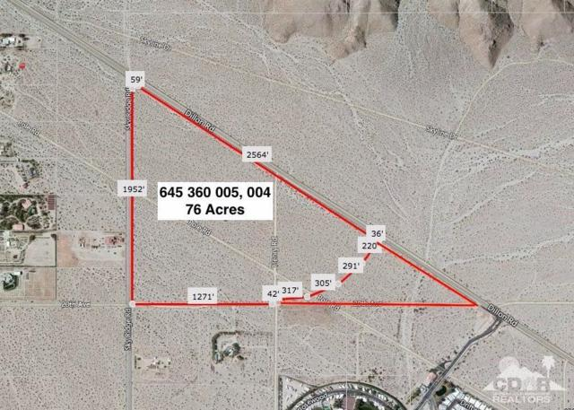 0 76 Acres Dillon & Sky Ridge Rd, Desert Hot Springs, CA 92241 (MLS #219016263) :: Brad Schmett Real Estate Group