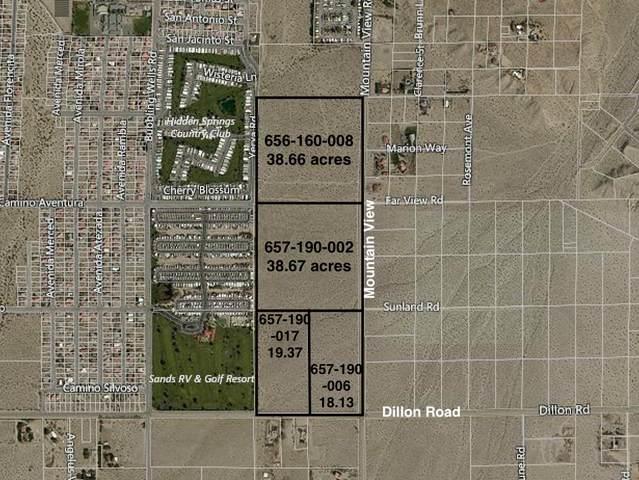 114 Acres Dillon & Moutain View, Desert Hot Springs, CA 92241 (MLS #219058428) :: The Jelmberg Team