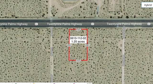 1.25 Acres Hwy 62 And Hendys Road, 29 Palms, CA 92277 (#219058520) :: The Pratt Group