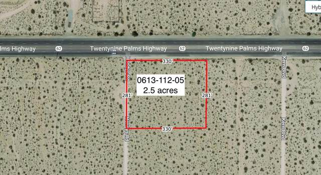 2.5 Acres On Hwy 62 Near Hendy's Road, 29 Palms, CA 92277 (#219058521) :: The Pratt Group