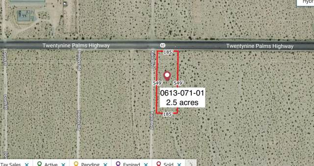2.5 Acres On Hwy 62 Near Kern Boulevard, 29 Palms, CA 92277 (#219058523) :: The Pratt Group