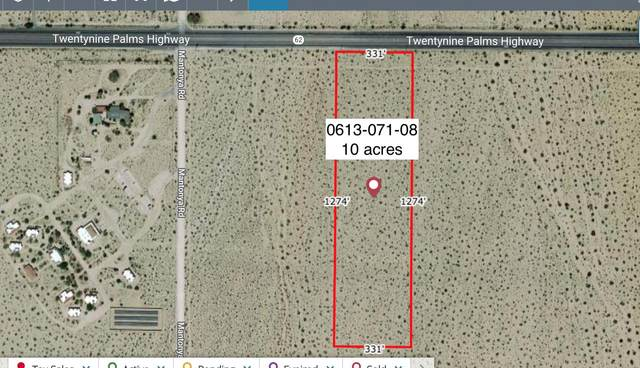 10 Acres On Hwy 62 And Mantonya Road, 29 Palms, CA 92277 (#219058524) :: The Pratt Group
