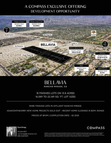 18 Lots Bellavia, Rancho Mirage, CA 92270 (MLS #219068928) :: Desert Area Homes For Sale