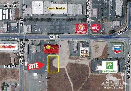 0 .61 Ac Highway 74 (4Th Street), Perris, CA 92570 (MLS #217033638) :: Team Wasserman