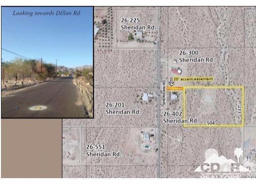 0 E Sheridan Rd / N Dillion Rd, Indio, CA 92241 (MLS #218021986) :: Brad Schmett Real Estate Group