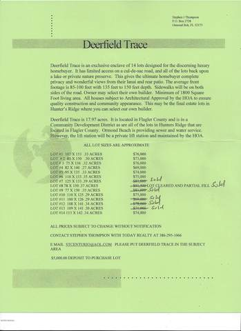 5 Deerfield Court, Ormond Beach, FL 32174 (MLS #1077472) :: NextHome At The Beach II