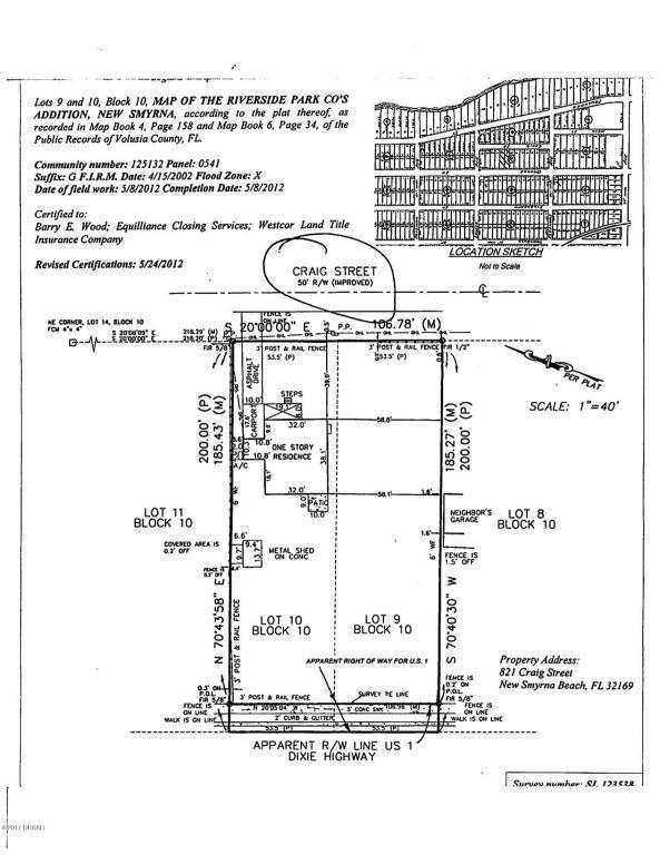 821 Craig Street, New Smyrna Beach, FL 32168 (MLS #1035624) :: Beechler Realty Group