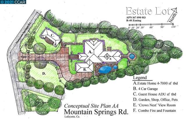 0 Mountain Spring Rd, Lafayette, CA 94549 (#40881393) :: Sereno