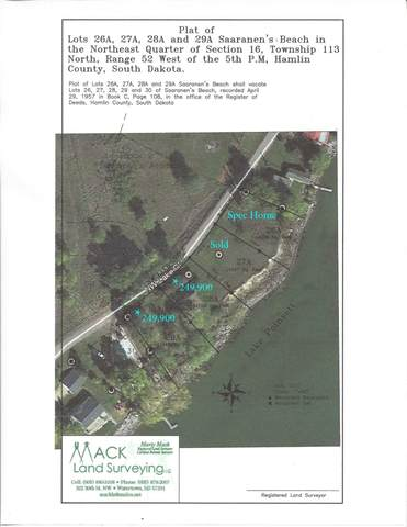 Saaranen's Beach Lot 29 A, Lake Poinsett, SD 57248 (MLS #21-114) :: Best Choice Real Estate