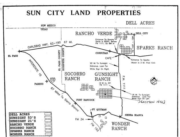 19 13 Psl Gunsight Ranch Lot 7, Sierra Blanca, TX 79851 (MLS #838347) :: The Purple House Real Estate Group