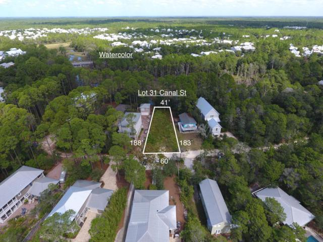 Lot 31 Canal Street, Santa Rosa Beach, FL 32459 (MLS #784297) :: Scenic Sotheby's International Realty