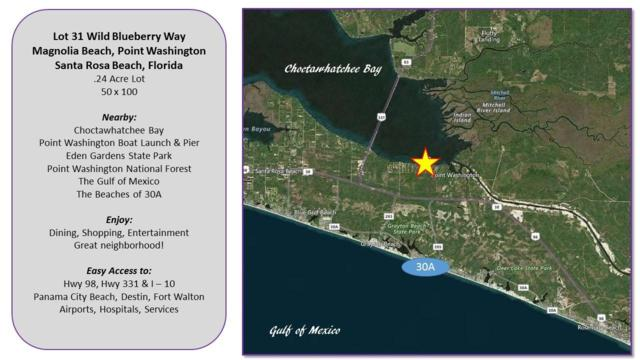 Lot 31 Wild Blueberry Way, Santa Rosa Beach, FL 32459 (MLS #791320) :: Coast Properties