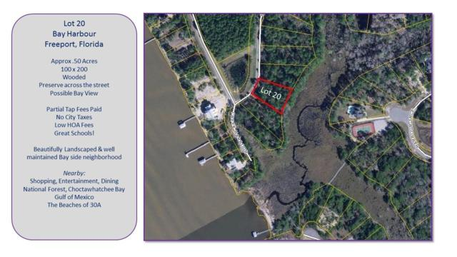 Lot 20 Bay Harbor Boulevard, Freeport, FL 32439 (MLS #791392) :: Scenic Sotheby's International Realty