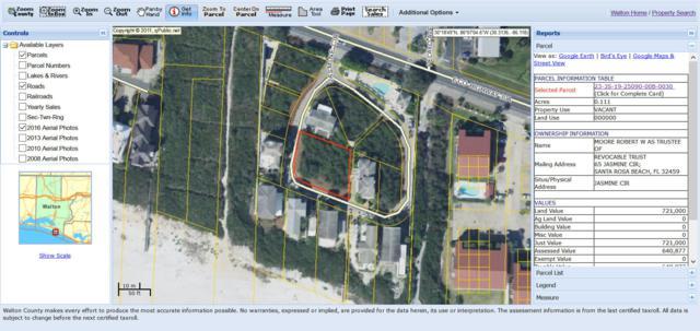 Lot 3/4 Jasmine Circle, Santa Rosa Beach, FL 32459 (MLS #806274) :: Classic Luxury Real Estate, LLC