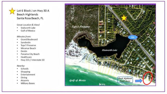 LT 6 BLK J County Hwy 30A, Santa Rosa Beach, FL 32459 (MLS #820650) :: Berkshire Hathaway HomeServices Beach Properties of Florida