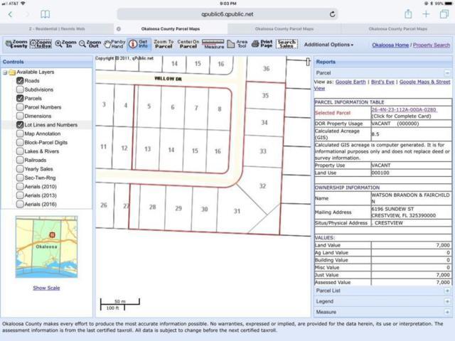 1.55 AC Broadview Circle, Crestview, FL 32539 (MLS #821588) :: CENTURY 21 Coast Properties