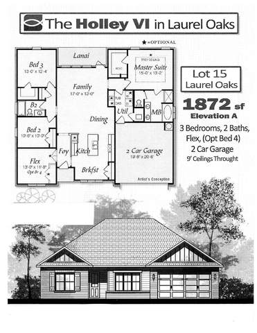 Lot 15 Laurel Oaks Dr, Freeport, FL 32439 (MLS #840824) :: Berkshire Hathaway HomeServices Beach Properties of Florida
